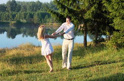 Couple outdoor Stock Photography