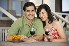 Couple at Outdoor Cafe Stock Photos