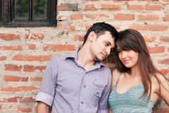 Couple outdoor portrait Stock Image