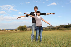 Couple outdoors Stock Image