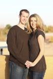 Couple outdoors Royalty Free Stock Photo