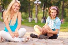 Couple outdoors Stock Photo