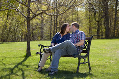 Couple outdoors Royalty Free Stock Photos