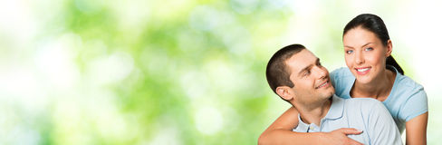 Couple, outdoors Stock Images