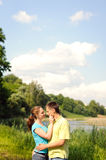 Couple outdoors Stock Images