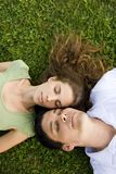 Couple outdoors Royalty Free Stock Photography
