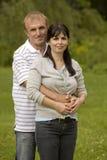 Couple outdoors Royalty Free Stock Photos