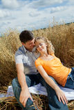 Couple outdoors Stock Photos