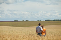 Couple outdoors Royalty Free Stock Photo