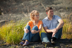 Couple outdoors Stock Photography