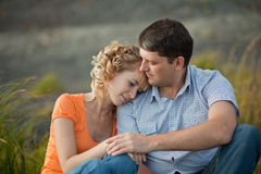 Couple outdoors Royalty Free Stock Image