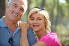 Couple outdoors. Couple taking a stroll on a lovely day stock images