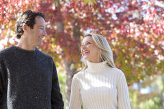Couple outdoors in autumn Royalty Free Stock Photo