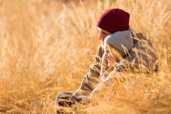 Couple outdoors autumn Stock Images