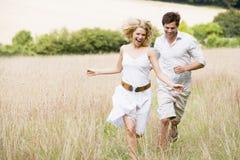 couple outdoors running Στοκ Φωτογραφία