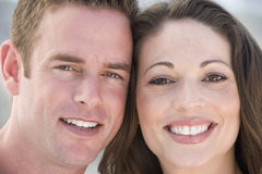 Couple outdoors smiling Stock Photo