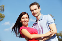 Couple outside Stock Photography