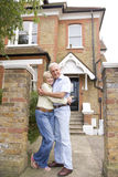 Couple Outside There House Stock Photos