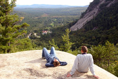 Couple at Overlook Royalty Free Stock Photos