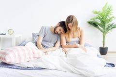 Couple is overslept Stock Image