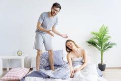 Couple is overslept Stock Photography