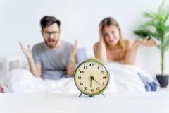 Couple is overslept Royalty Free Stock Photo