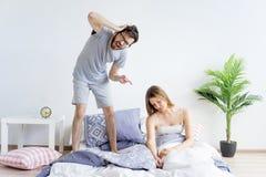 Couple is overslept Royalty Free Stock Image