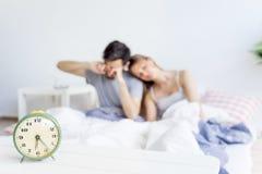 Couple is overslept Stock Photo