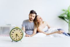 Couple is overslept Royalty Free Stock Photography