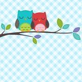 Couple of owls Royalty Free Stock Photos