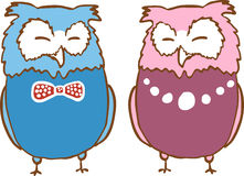A couple of owls Royalty Free Stock Photography
