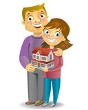 Couple with own house Royalty Free Stock Photography