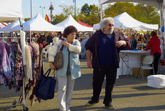 Couple at Oyster Festival in Oyster Bay, NY Royalty Free Stock Image