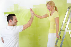 Couple painter Royalty Free Stock Photography