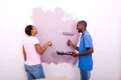 Couple painting Stock Photography