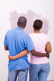 Couple painting Royalty Free Stock Image