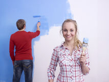 Couple painting Royalty Free Stock Photo