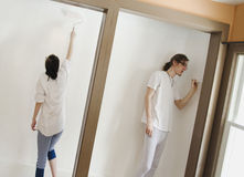 Couple painting room_1 Stock Photos