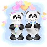 Couple of pandas  illustration Stock Photo