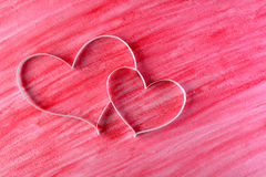 Couple paper hearts Stock Images