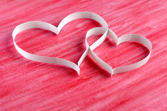 Couple paper hearts Royalty Free Stock Image