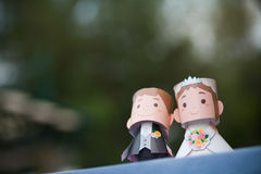 Couple of paper wedding doll. For wedding reception desk Stock Photo