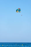 Couple parasailing Stock Photos