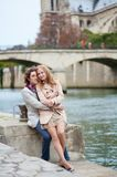 Couple in Paris Royalty Free Stock Photos