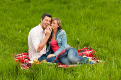 Couple park Royalty Free Stock Image