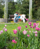 Couple in park Stock Photo