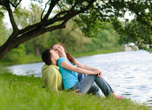 Couple in the park Royalty Free Stock Photo