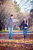 Couple in a park Royalty Free Stock Images