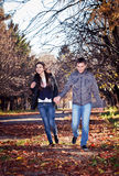 Couple in a park Stock Photo
