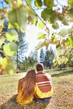 Couple in park Stock Images